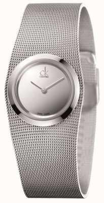 Calvin Klein Impulsivo, acciaio inossidabile, orologio quadrante argento Ladies ' K3T23128