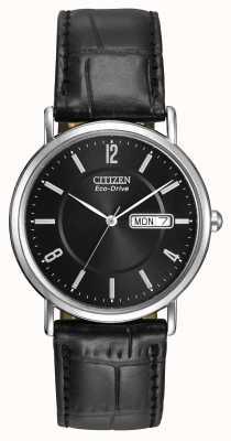 Citizen Ladies cinturino in pelle nero Eco-Drive BM8240-03E