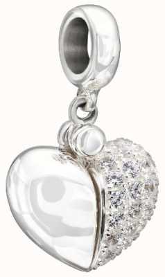 Chamilia Sterling silver w pietra - messaggio segreto del cuore - zirconi 2025-1052