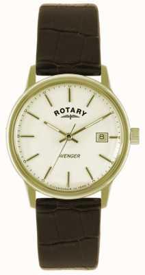 Rotary signori Avenger orologio cinturino piatto d'oro GS02876/03