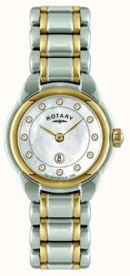 Rotary Signore orologio da polso a due toni LB02602/41L