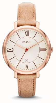 Fossil Jacqueline signore, oro, orologio cinturino beige rosa ES3487