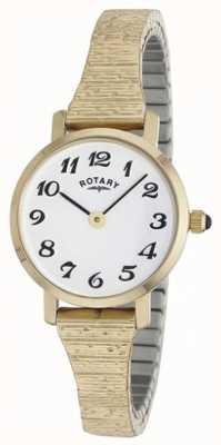 Rotary Orologio da donna classico con cinturino in oro LBI00762