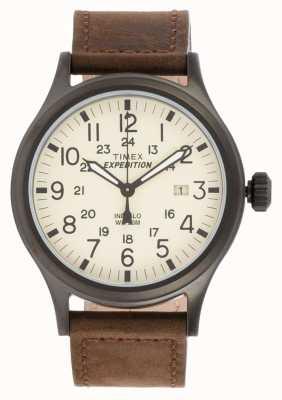 Timex Mens spedizione orologio marrone esploratore T49963