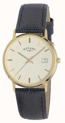 Rotary Mens 9ct cassa in oro metalli preziosi GS11476/03