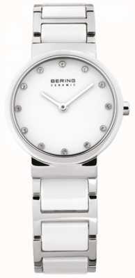 Bering Signore bianco quarzo analogico di ceramica 10729-754