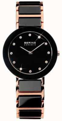 Bering Moderna doppio tono vigilanza a cristallo di ceramica 11429-746