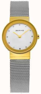 Bering Tempo signore oro e argento di maglia classico 10122-001