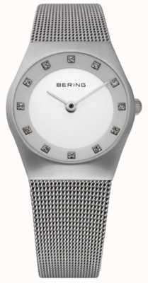 Bering Orologio minimalista da donna | bracciale a maglie in acciaio inossidabile 11927-000