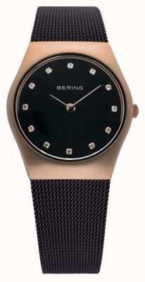 Bering signore Tempo Milanese orologio maglia marrone 11927-262