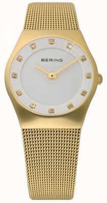 Bering Signore Tempo orologio oro maglia 11927-334