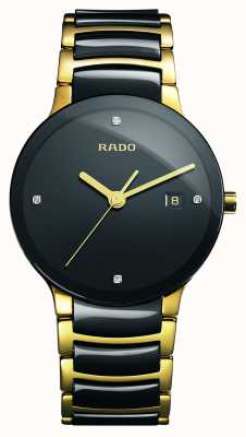 Rado Orologio quadrante nero in ceramica high-tech con diamanti Centrix R30929712