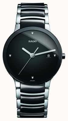 Rado Orologio quadrante nero in ceramica high-tech con diamanti Centrix R30934712