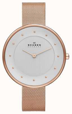 Skagen Onorevoli klassik rosa orologio oro maglia SKW2142