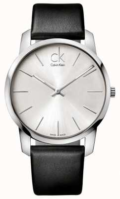 Calvin Klein Orologio da uomo con cinturino nero minimalista K2G211C6