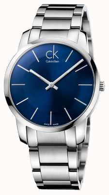 Calvin Klein città Mens orologio da polso in acciaio d'argento K2G2114N