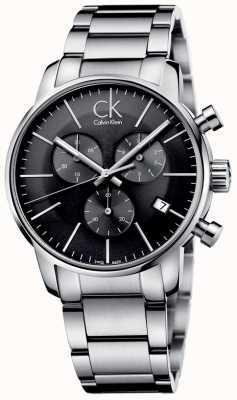 Calvin Klein Orologio a quadrante grigio in acciaio inox K2G27143