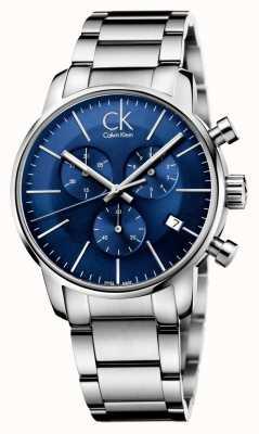 Calvin Klein Uomo Acciaio quadrante blu città del cronografo K2G2714N