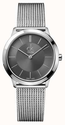 Calvin Klein Orologio da uomo minimale | cinturino in maglia di acciaio inossidabile K3M22124