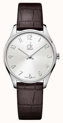 Calvin Klein vigilanza di signore di cuoio Classic K4D221G6