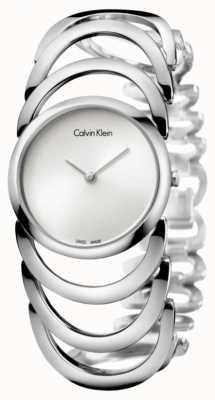 Calvin Klein Ladies Watch corpo d'argento K4G23126