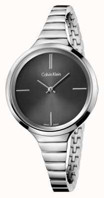 Calvin Klein Signore vivace nero orologio d'argento K4U23121