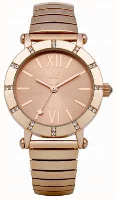 Lipsy Oro rosa orologio da polso di espansione LP100