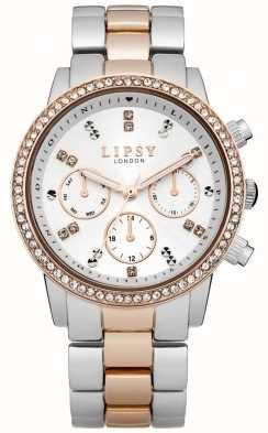Lipsy Signore bianche e orologio da polso di due toni LP161