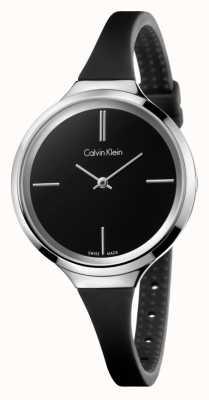 Calvin Klein Signore vivace cinturino in silicone nero K4U231B1