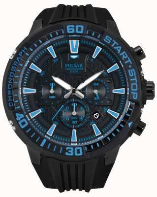 Pulsar Gents x cronografo nero e blu PT3507X1