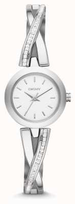DKNY Onorevoli crosswalk argento orologio set di pietra NY2173