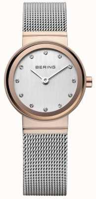 Bering classiche da donna rosa orologio d'oro-tono 10126-066