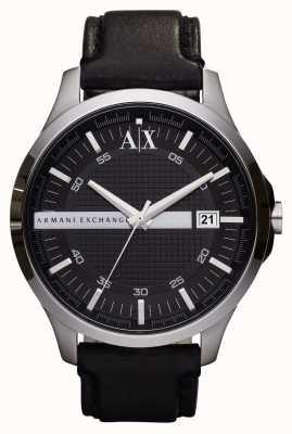 Armani Exchange orologio cinghia di cuoio della data degli uomini AX2101