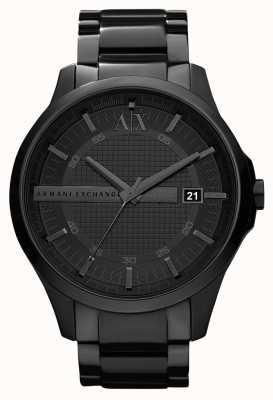 Armani Exchange Uomo intelligente PVD nero cromato in acciaio inox AX2104