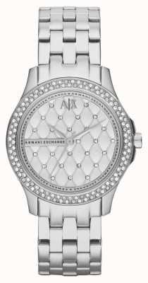 Armani Exchange Delle donne set di cristallo bracciale in acciaio intelligente AX5215