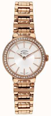 Rotary Onorevoli les originales, targa d'oro, orologio set di cristallo LB90085/02