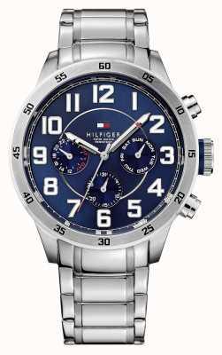 Tommy Hilfiger Cronografo da uomo Trent con quadrante blu 1791053