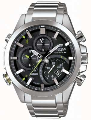 Casio Edifice sincronizzazione bluetooth intelligente nero solare intelligente EQB-501D-1AER