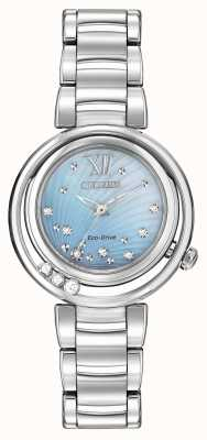 Citizen Quadrante blu diamante con eco-drive sunrise l EM0320-59D