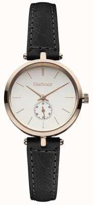 Barbour Lisle orologio cinturino in pelle nera BB011RSBK