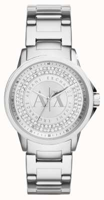 Armani Exchange Delle donne bracciale in acciaio set di cristallo urbano AX4320
