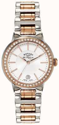 Rotary Orologio da donna con montatura in acciaio e oro rosa LB90083/02