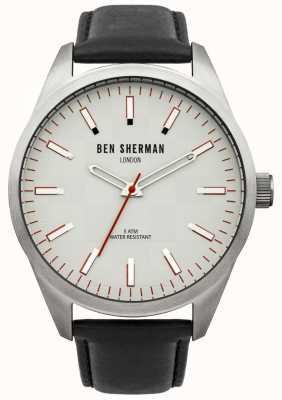 Ben Sherman Orologio da uomo London quadrante bianco con cinturino nero WB007S