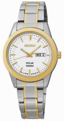 Seiko Orologio da donna per giorno / data con orologio a due toni SUT162P1