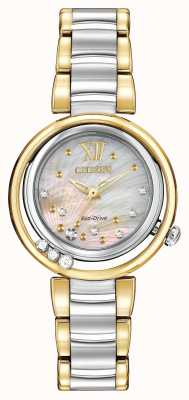 Citizen Eco-drive sunrise l donna diamante due toni EM0324-58D