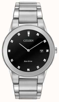 Citizen | uomo assioma eco-guida | quadrante nero diamante | AU1060-51G