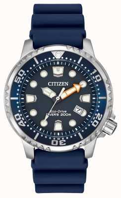 Citizen Gents gomma blu solare orologio analogico alimentato BN0151-09L