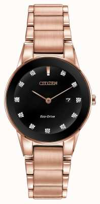 Citizen Womens assioma placcato oro rosa Eco-Drive GA1058-59Q