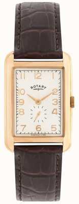 Rotary mens Portland Rose orologio vestito tono GS02699/01