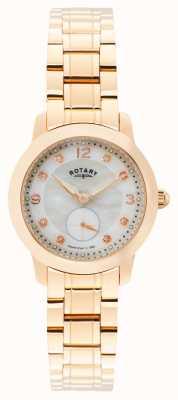 Rotary Womens Cambridge, oro rosa, perle, cristallo LB02702/41